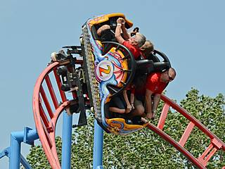 """Steel Dragon"" - Spinning Coaster von Maurer Rides © Wolfgang Payer"