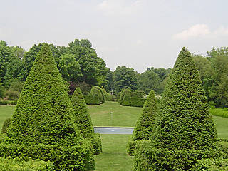 The Great Bowl in den Ladew Topiary Gardens. © Scba